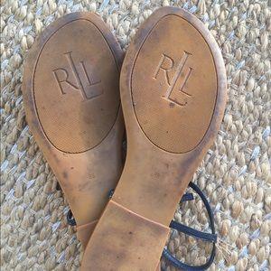 Ralph Lauren Shoes - Ralph Lauren T-strap leather flats